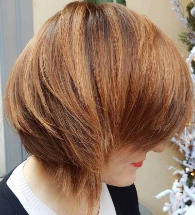 18 Short Layered Side Part Hairstyle